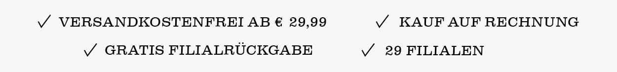 Keine Versandkosten schon ab EUR 29,99