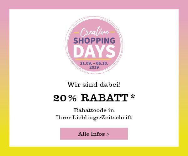 20 % Rabatt mit den Creative Shopping Days