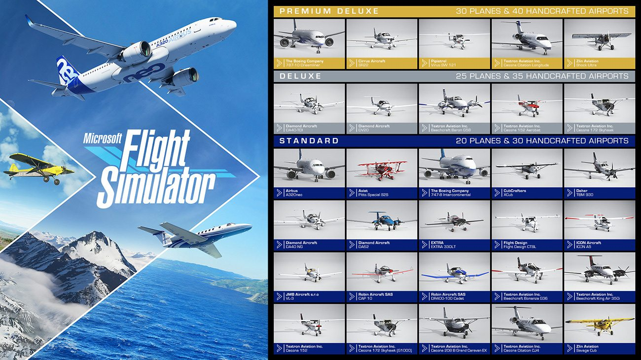 Microsoft Flight Simulator – Editionen