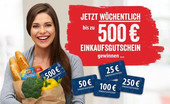 Jetzt wöchentlich mit Deli Reform Einkaufsgutscheine bis zu 500€ gewinnen.